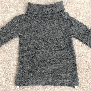 Jcrew Crewcuts Space Gray Turtleneck Sweatshirt 2T